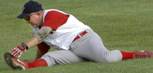 Men find solace in baseball league on their field of dreams