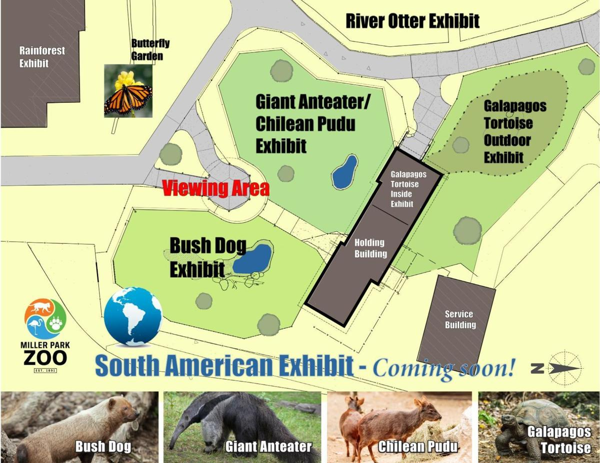 Miller Park Zoo South America exhibit map