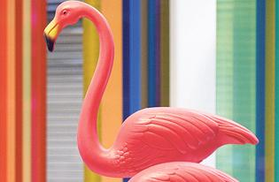 Pink flamingo lawn ornament reborn