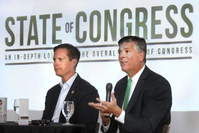 Davis, LaHood talk trade, politics with McLean County Chamber of Commerce