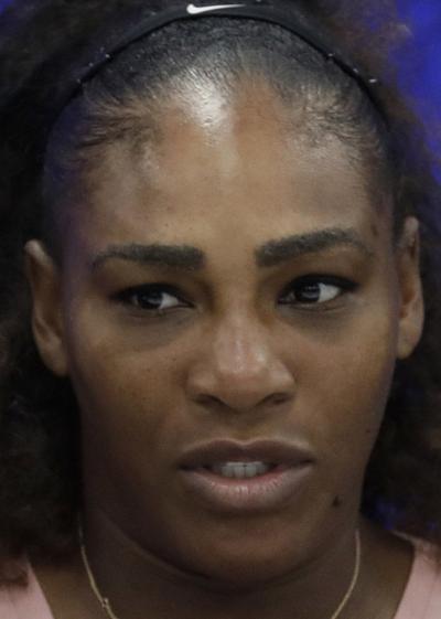 Serena Williams, no smile hedshot 2018