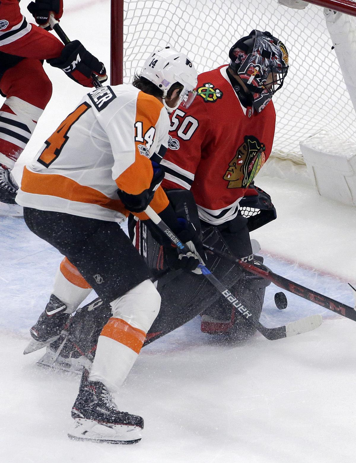 Flyers Blackhawks Hockey