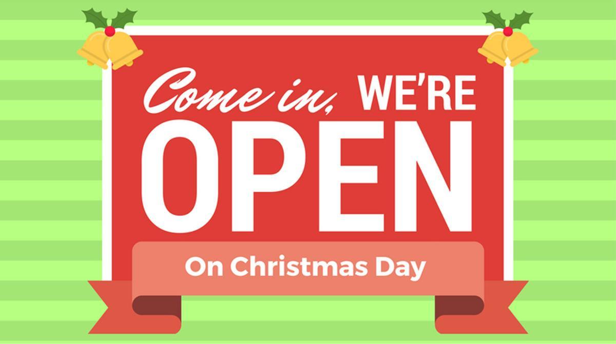 B–N restaurants open on Dec. 24 & 25