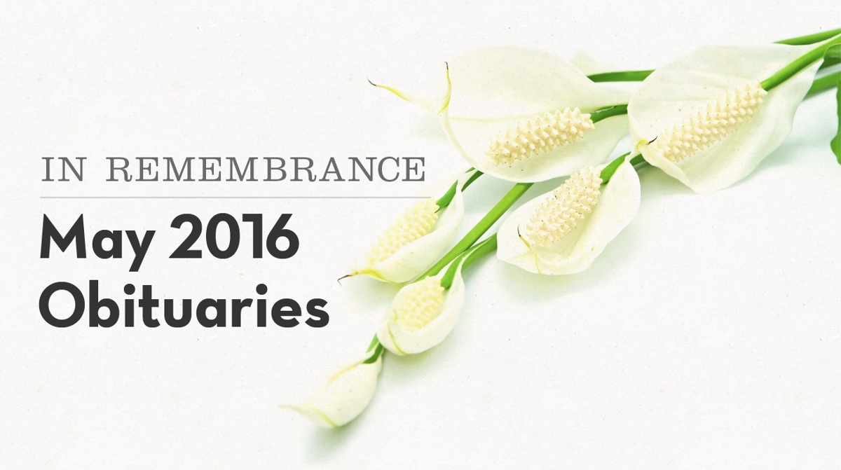 In remembrance: Local obituaries in May | Obituaries | pantagraph.com