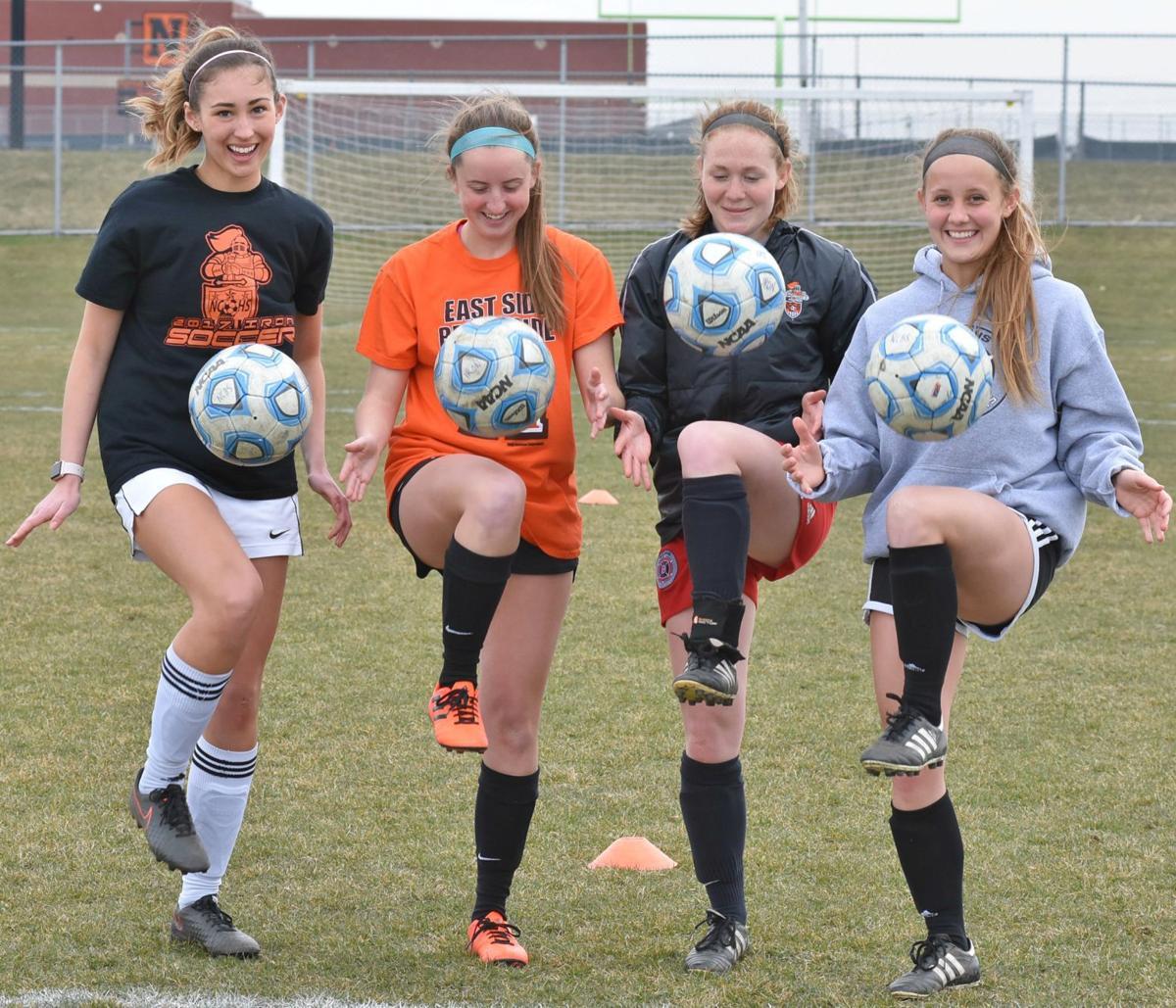 NCHS soccer back line photo