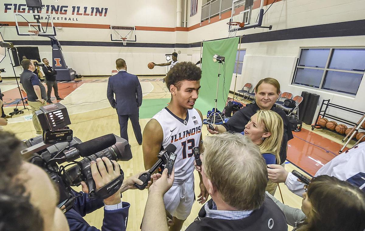 Illini Mark Smith, media day