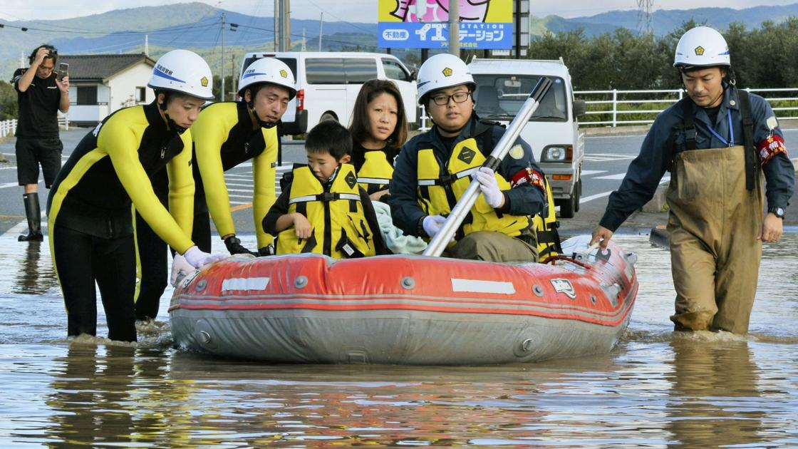 Photos: Typhoon leaves 19 dead as Japan launches major rescue