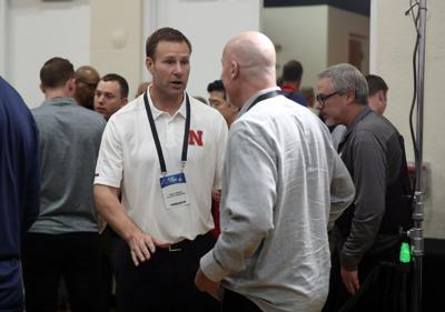 Former Bulls coach Fred Hoiberg and general manager John Paxson talk during the NBA draft combine Thursday, May 16, 2019 at the Quest Multisport Complex.