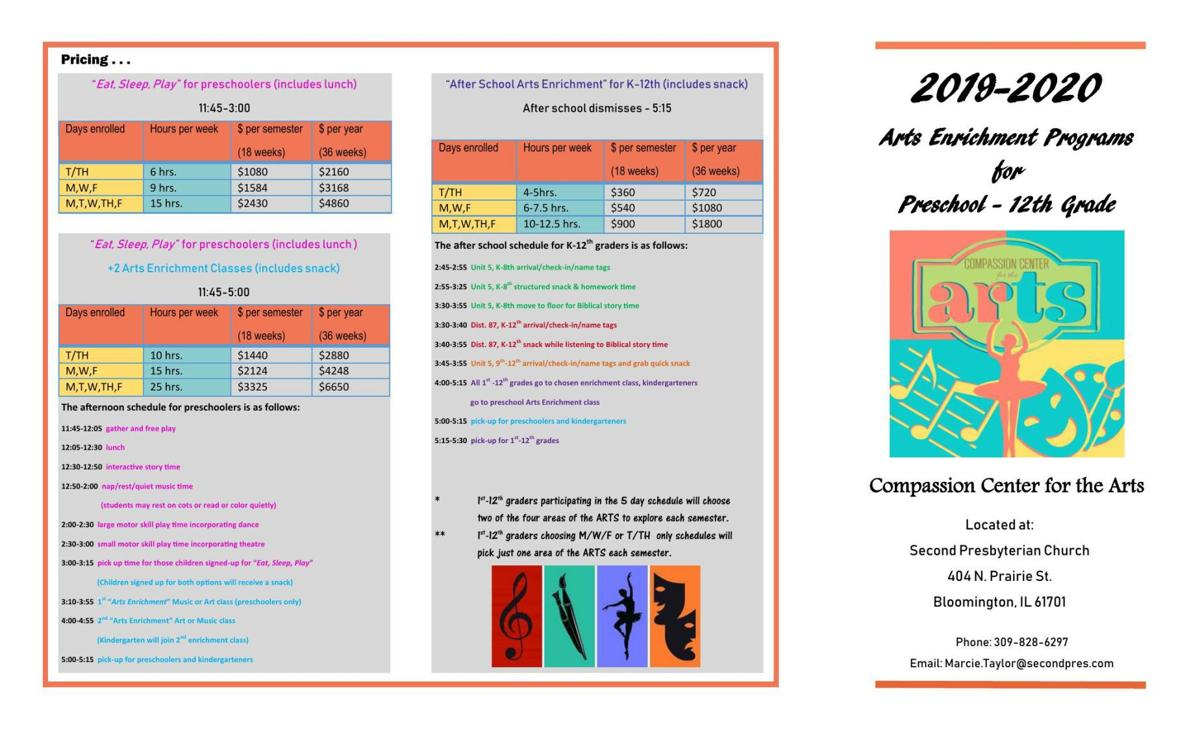 Fall programs flyer