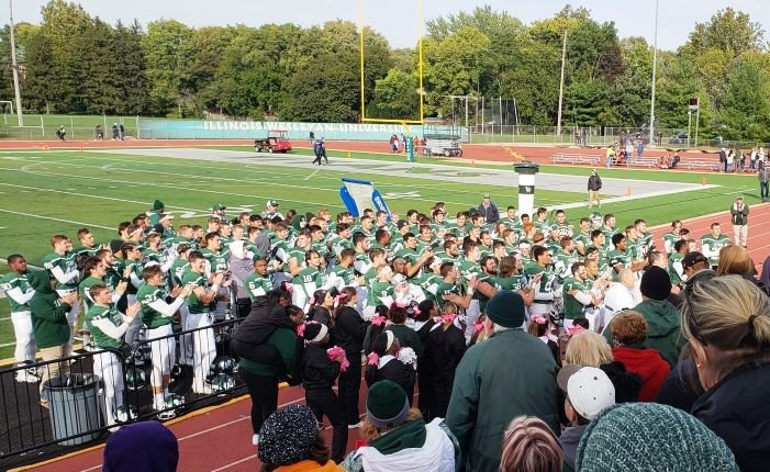 IWU football celebrates win