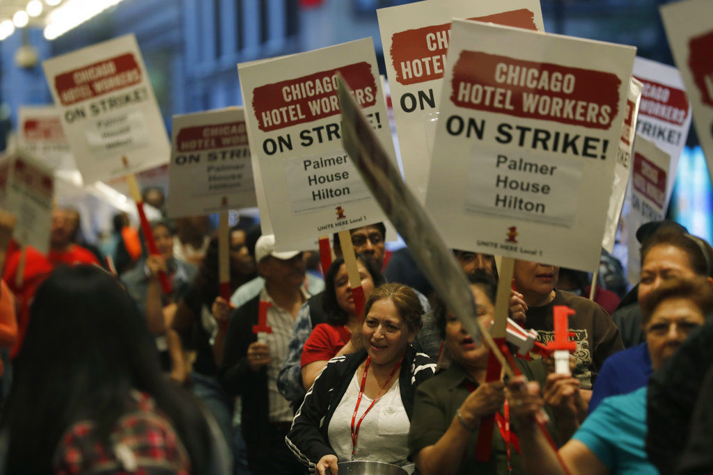 Chicago Hotels-Strike