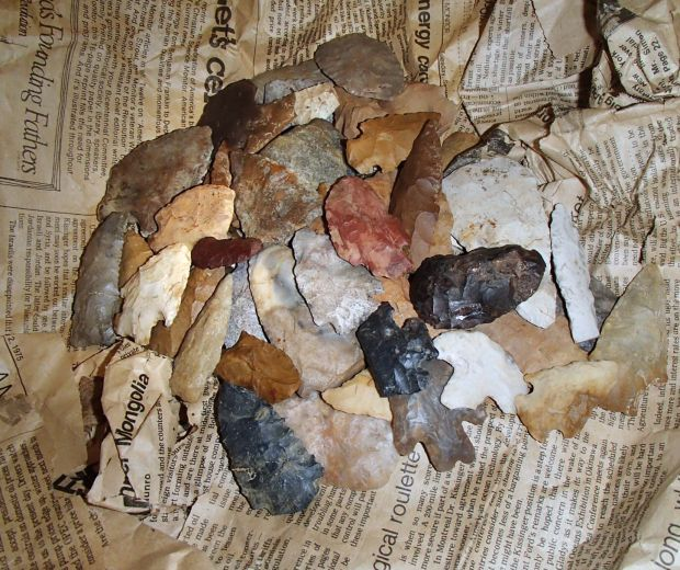 finding arrowhead collection in iwu basement sparks