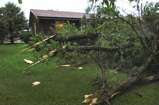 Heyworth storm damage