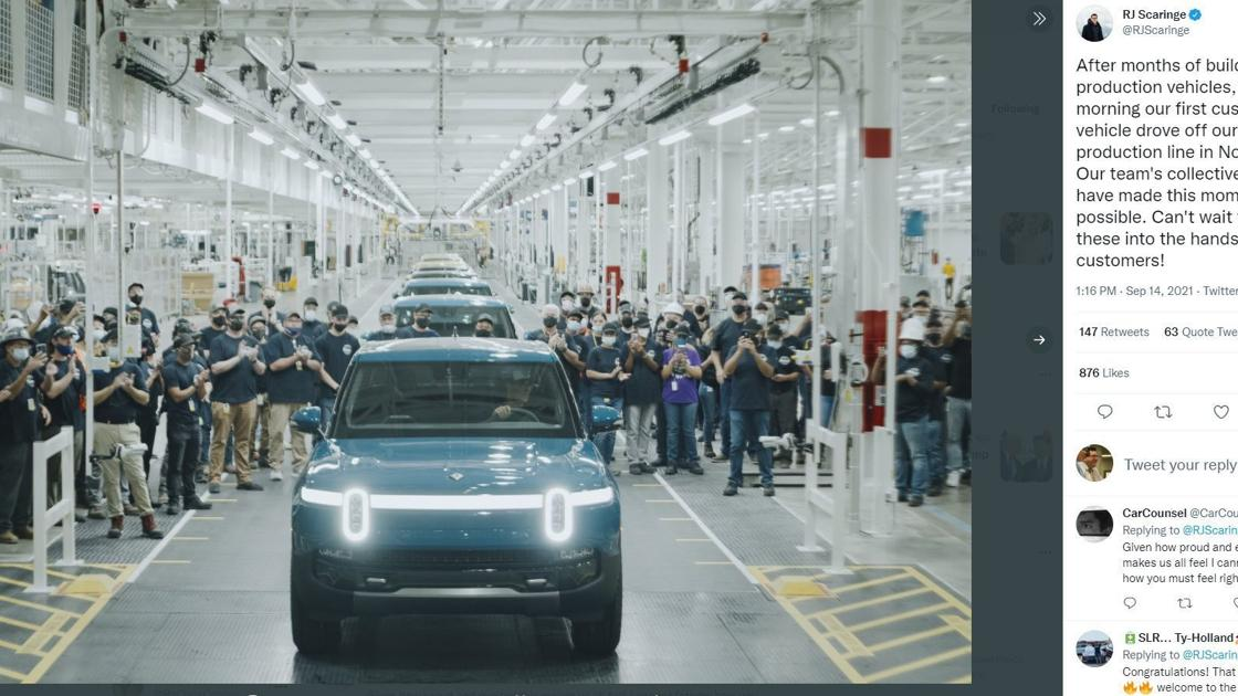 Watch now: Rivian makes history at Normal factory