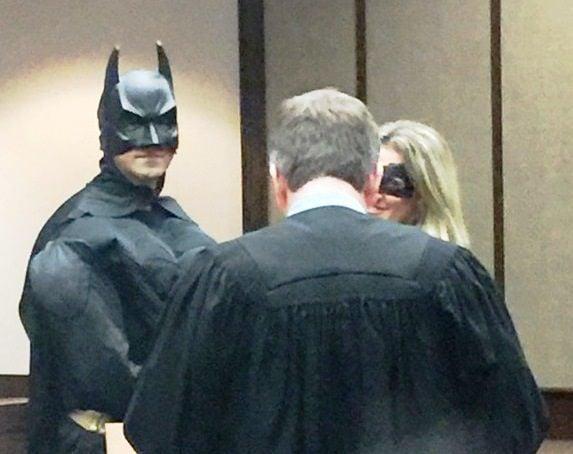 Batman, Batwoman and Judge Goldrick