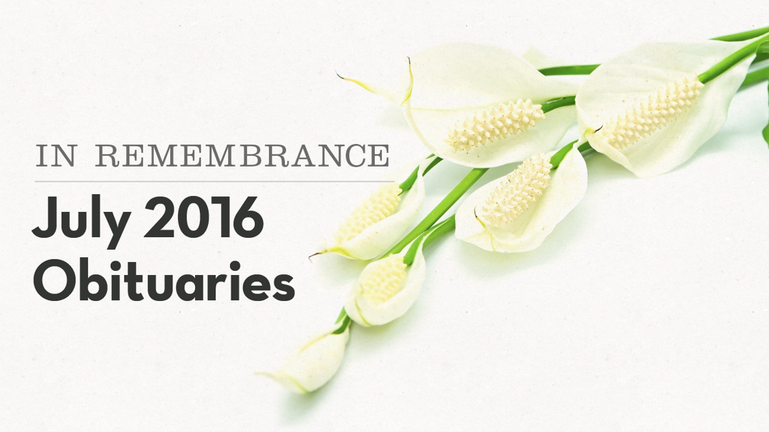 In remembrance  Local obituaries in July  100bbd1eb0