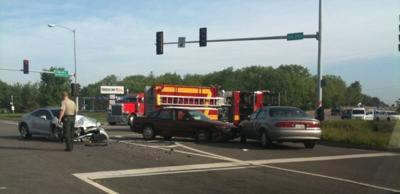 Car crash near Downs
