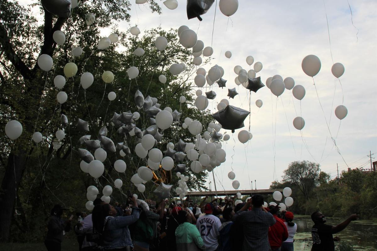 Jelani Day balloon release