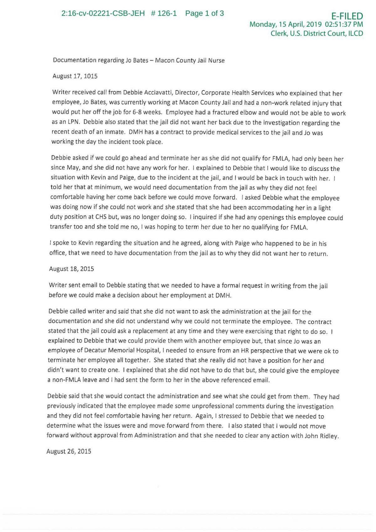 Jo Bates Personnel File Excerpt - 4/15/2019