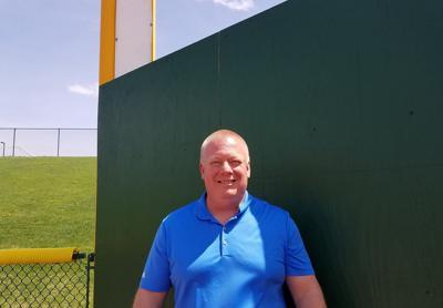 Malliet at left field wall, Corn Crib