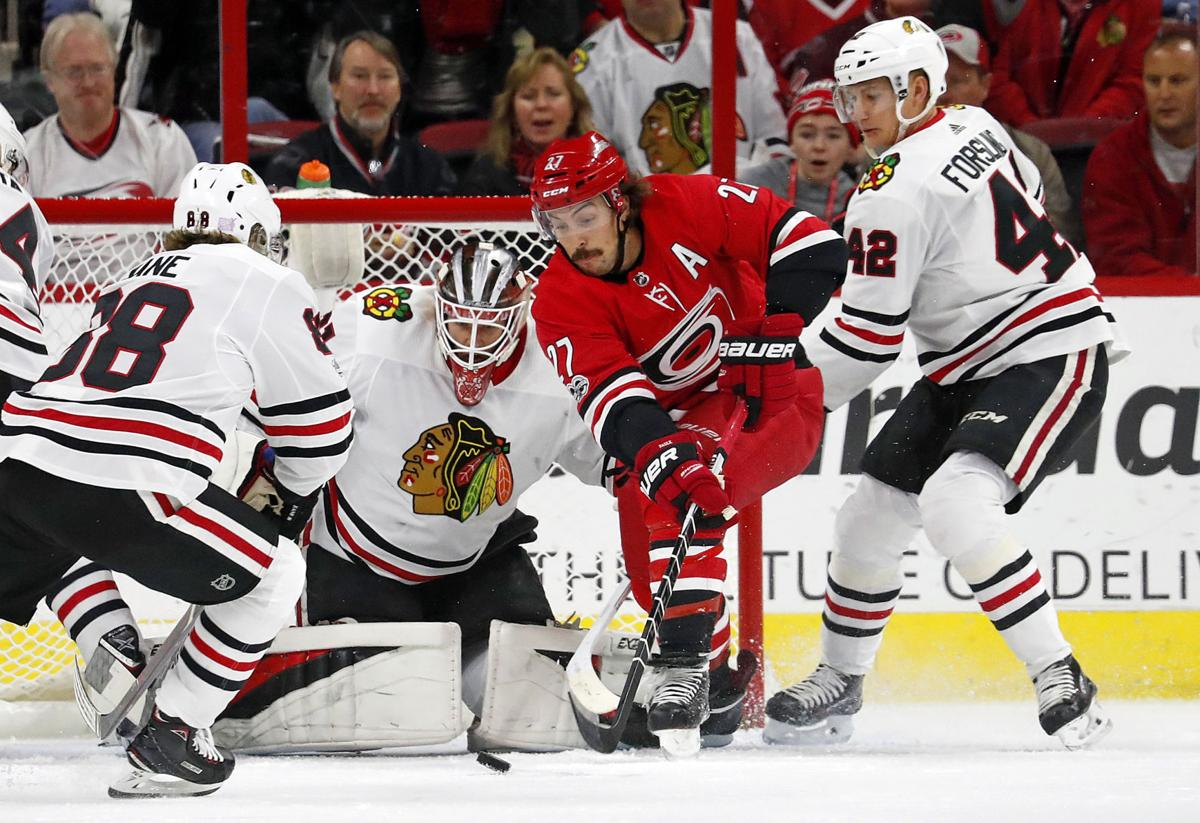 Blackhawks Hurricanes Hockey