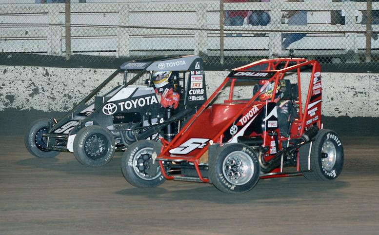 Zach Daum, Spencer Bayston race at Macon