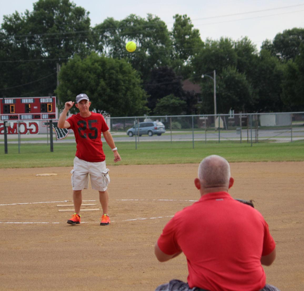 First pitch GCMS Softball