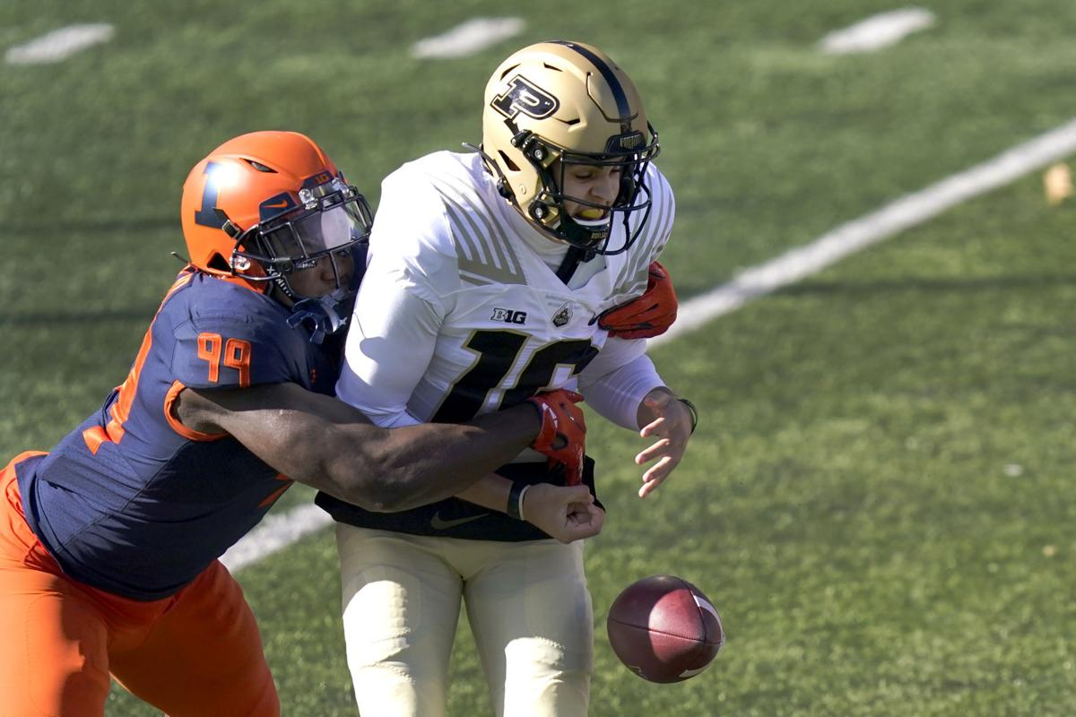 Illinois football notebook: Owen Carney Jr. has big day in loss to Purdue |  Sports | pantagraph.com
