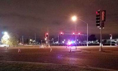 Pedestrian fatal scene