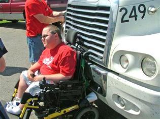 Man in wheelchair takes wild ride