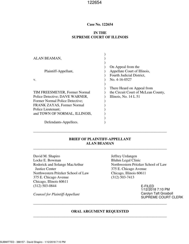 Beaman court document