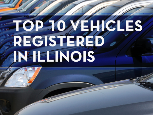 Top 10 vehicles registered in Illinois last year