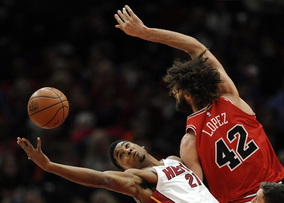 APTOPIX Heat Bulls Basketball
