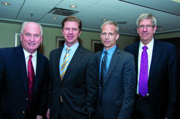 State Rep. Dan Brady, Kyle Hammer, Councilman Kevin McCarthy, Town of Normal Mayor Chris Koos