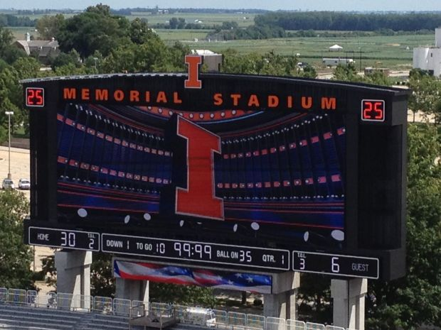 Illinois to show off big new HD scoreboard at opener   College Football    pantagraph.com