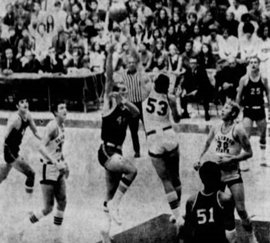 Game action from final IWU-ISU basketball game