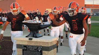 NCHS football taking field