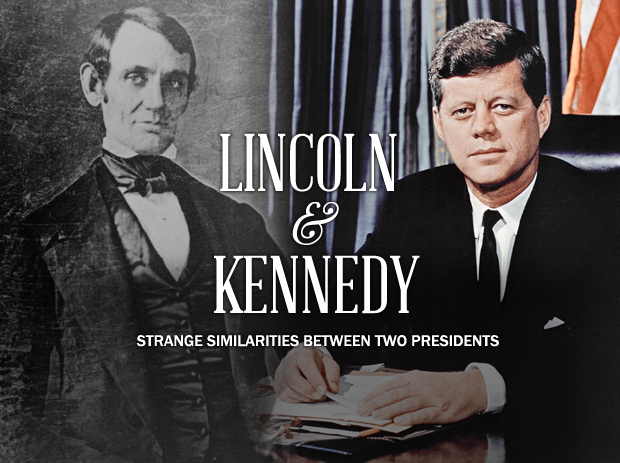 a comparison of the lives of abraham lincoln and john f kennedy Our 16th president, abraham lincoln, was not one of america's wealthiest — and any opportunity to earn money after his term in office was cut short.