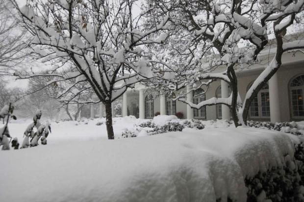 White House snow 121909
