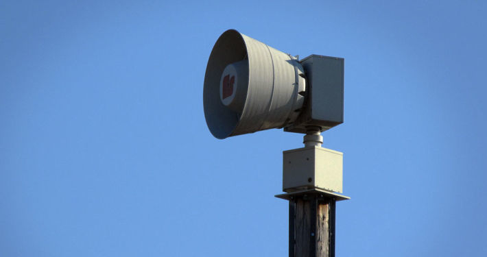 Image result for storm warning siren image