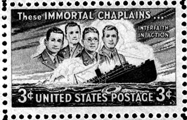 Four Chaplains Stamp PFOP