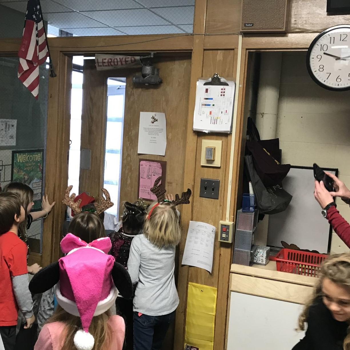 LeRoy fire district donates old hose to school for classroom