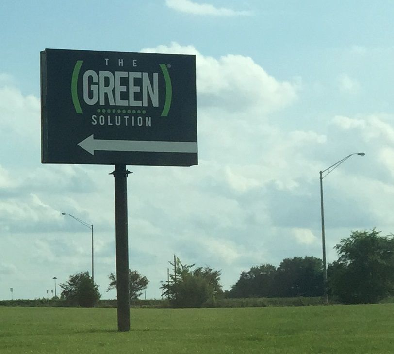 Green Solution sign
