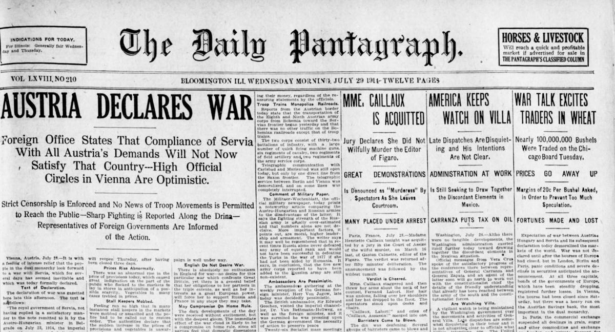 July 29, 1914 - World War I