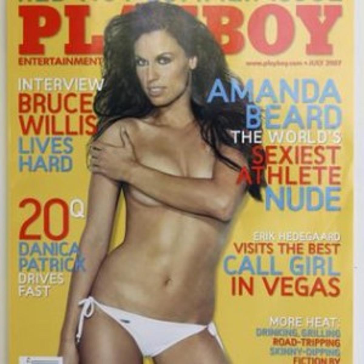 Amanda Beard Playboy amanda beard showing off more than her swim suit in playboy