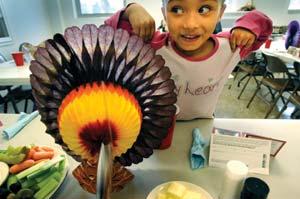 Hundreds enjoy Thanksgiving dinners