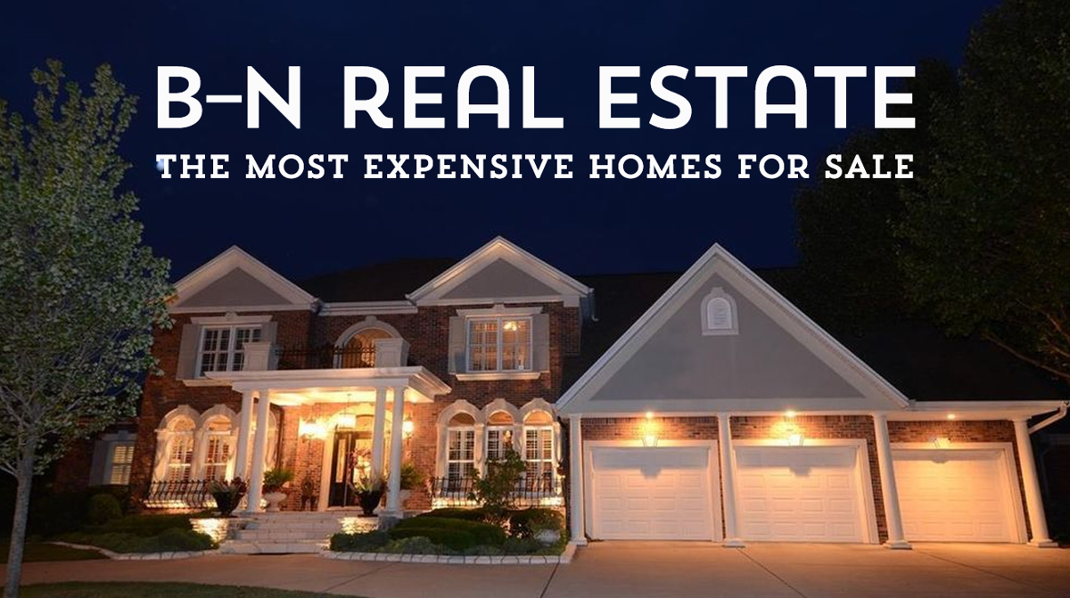 The most expensive homes for sale in b n home and garden for Zillow most expensive