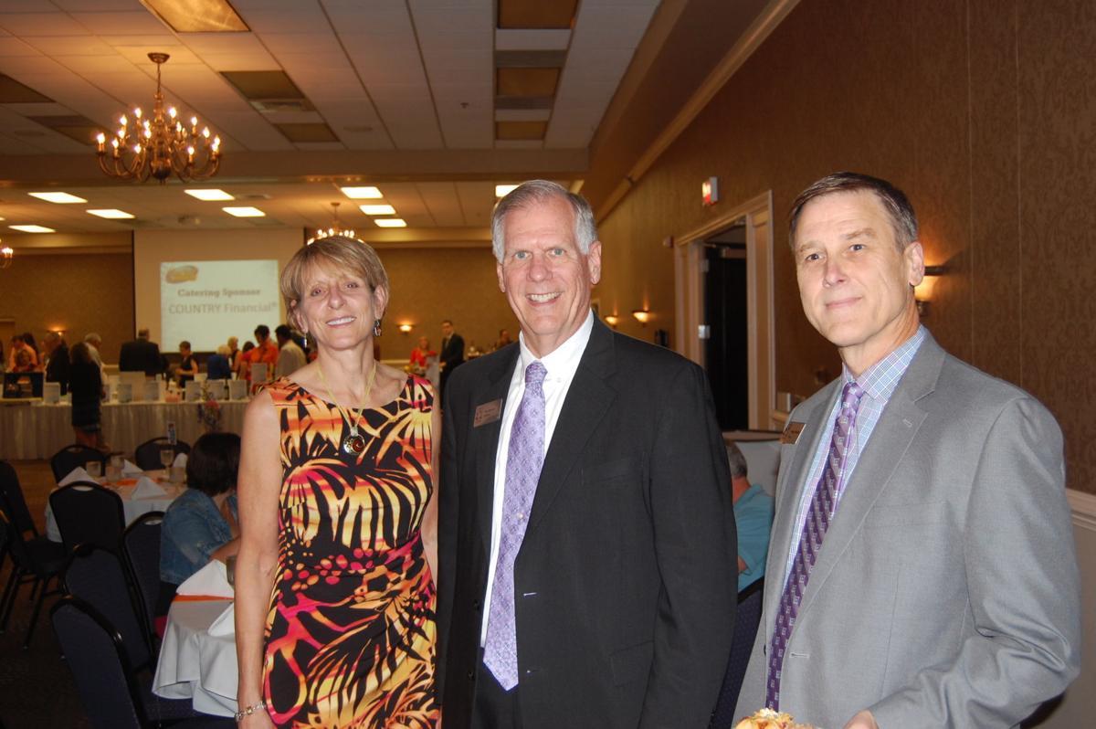 Robyn Walter, Heartland Community College President Rob Widmer, Gregg Chadwick