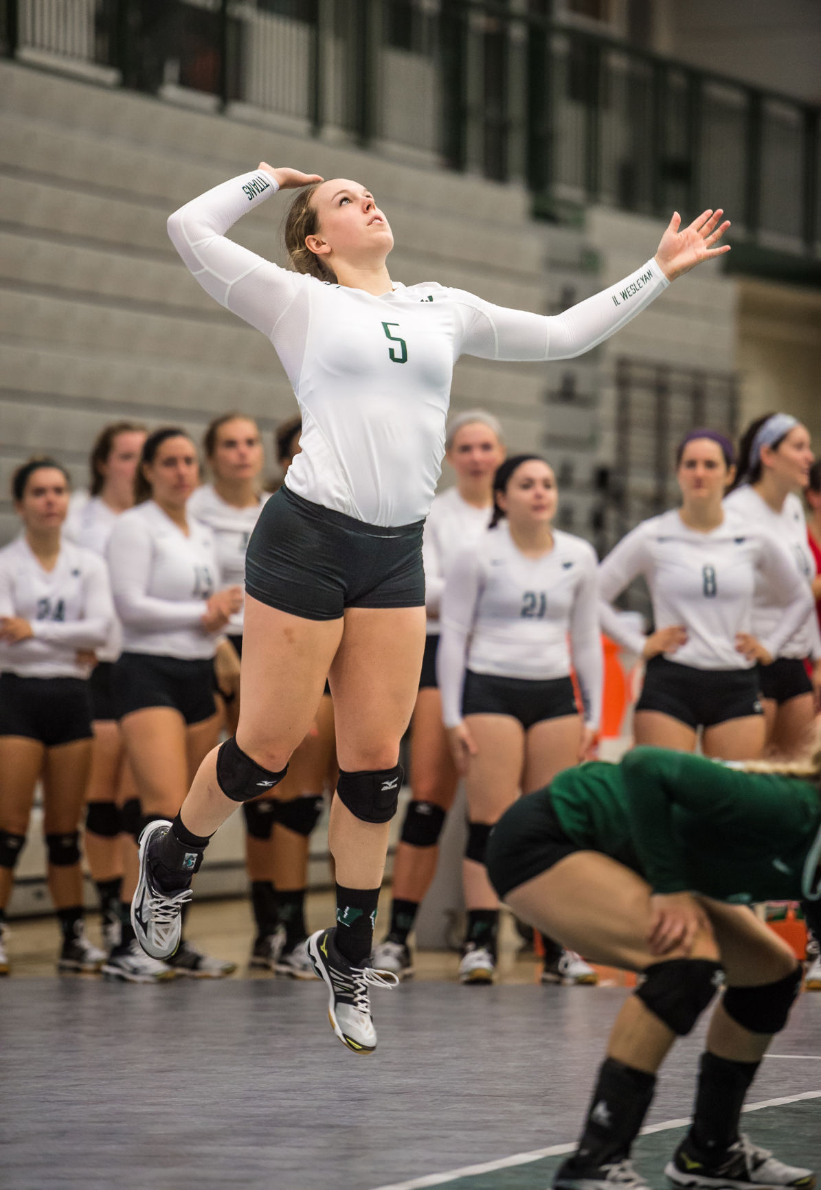 IWU volleyball Tyler Brown action