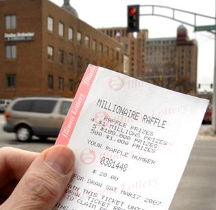 Lottery raffle ticket holders hope for luck